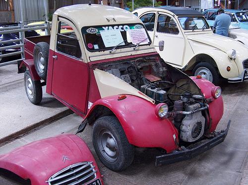 2CV Citroen diesel Ce sont les petits modèles diesels polluants qui sont visés. Crédit photo :  Cédric JANODET