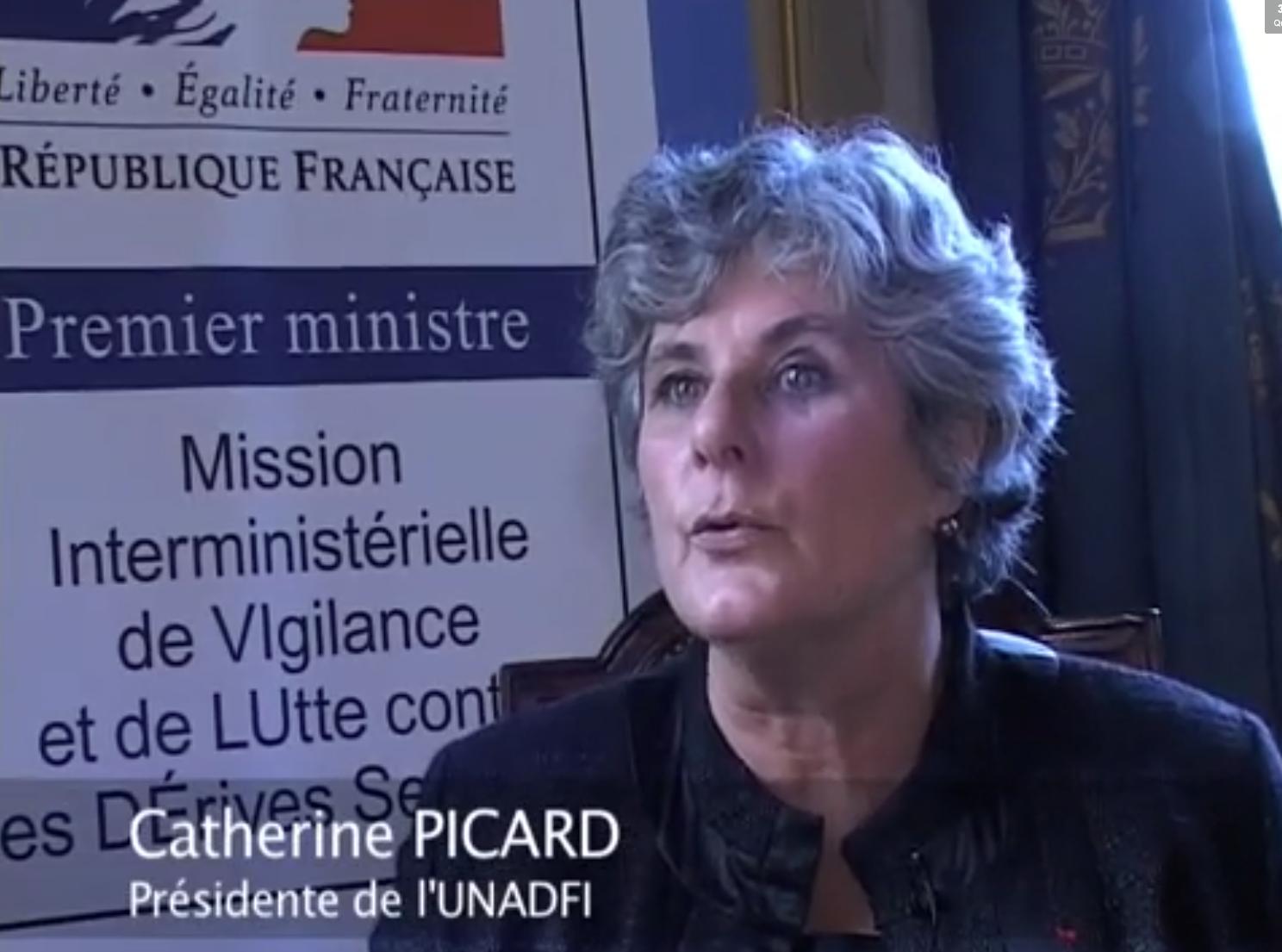 Picard, présidente de l'Unadfi. Photo: capture d'écran Courrier des maires.